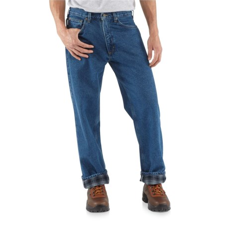 Carhartt Straight-Leg Jeans - Flannel Lined, Factory Seconds (For Men) in Darkstone