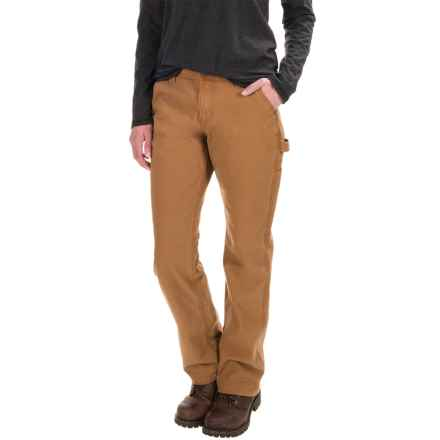 Carhartt Straughn Pants - Relaxed Fit, Straight Leg, Factory Seconds (For Women) in Carhartt Brown - 2nds