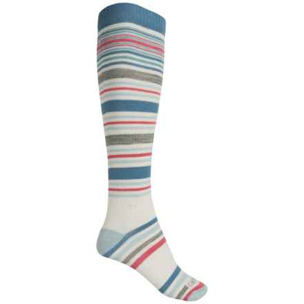 Carhartt Stripe Knee-High Socks - Over the Calf (For Women) in Blue - Closeouts