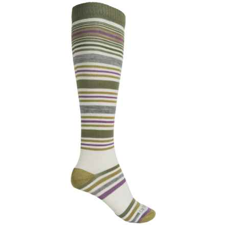 Carhartt Stripe Knee-High Socks - Over the Calf (For Women) in Green - Closeouts