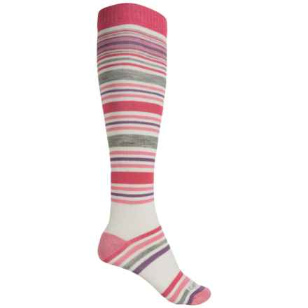 Carhartt Stripe Knee-High Socks - Over the Calf (For Women) in Pink - Closeouts