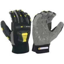 Carhartt Stronghold Hi-Vis Gloves (For Men and Women) in Black/Grey/Hi-Vis Yellow - Closeouts