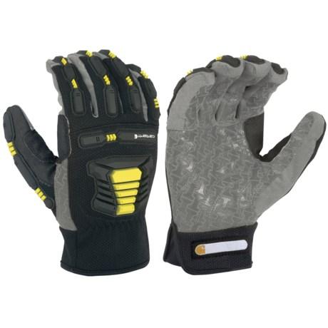 Carhartt Stronghold Hi-Vis Gloves (For Men and Women) in Black/Grey/Hi-Vis Yellow