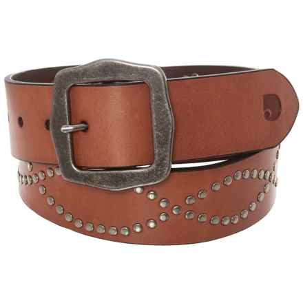 Carhartt Studded Leather Belt (For Women) in Tan - Closeouts