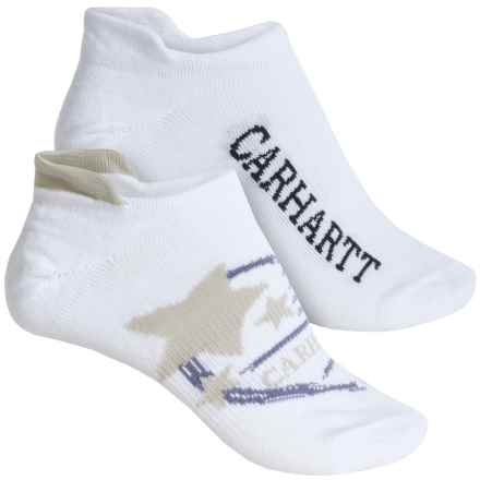 Carhartt Summer-Weight Logo Tab Socks - 2-Pack, Below the Ankle (For Women) in Khaki - Closeouts