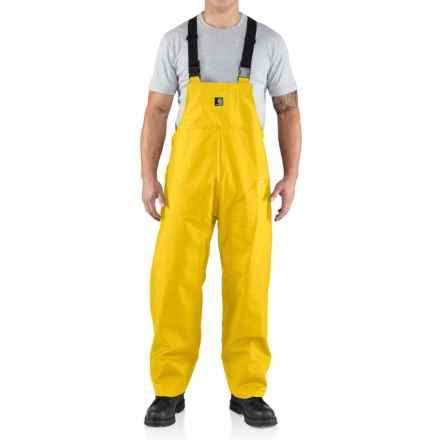 Carhartt Surrey Rain Bib Overalls - Waterproof, Factory Seconds (For Men) in Yellow - 2nds