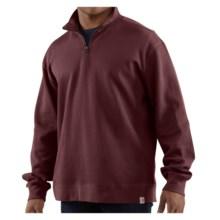 Carhartt Sweater Knit Shirt - Zip Neck, Long Sleeve (For Men) in Port - 2nds