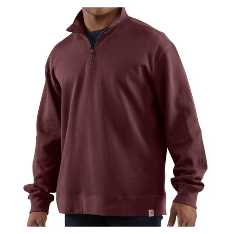 Carhartt Sweater Knit Shirt Zip Neck, Long Sleeve (For Men)