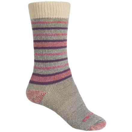 Carhartt Sweater Top Boot Socks - Crew (For Women) in Heather Grey - Closeouts