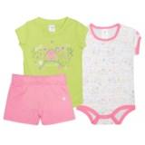 Carhartt T-Shirt, Baby Bodysuit and Shorts Set - Short Sleeve (For Infant Girls)