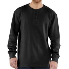 Carhartt Textured Knit Henley Shirt - Long Sleeve (For Big Men) in Black - 2nds