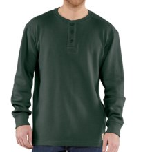Carhartt Textured Knit Henley Shirt - Long Sleeve (For Big Men) in Dark Green - 2nds