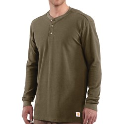 Carhartt Textured Knit Henley Shirt - Long Sleeve (For Men) in Army Green