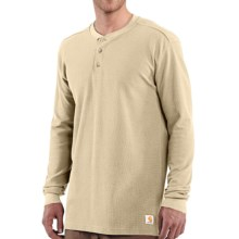 Carhartt Textured Knit Henley Shirt - Long Sleeve (For Men) in Dark Tan - 2nds