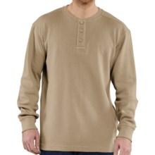 Carhartt Textured Knit Henley Shirt - Long Sleeve (For Men) in Dark Tan - 2nds