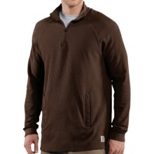 Carhartt Textured-Knit Mock Turtleneck - Zip Neck, Long Sleeve (For Men) in Dark Brown - 2nds