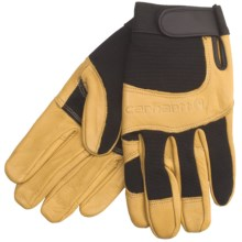Carhartt The Dex Utility Gloves - Leather (For Men) in Black/Barley - 2nds