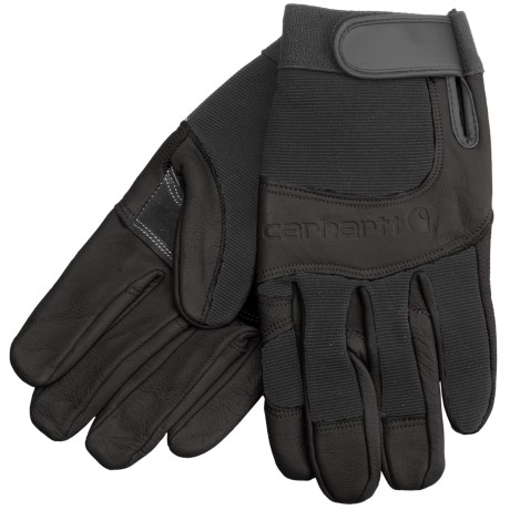 Carhartt The Dex Utility Gloves - Leather (For Men) in Black