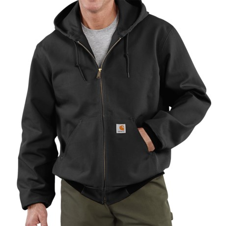 Carhartt Thermal-Lined Active Duck Jacket - Cotton, Factory Seconds (For Men) in Black