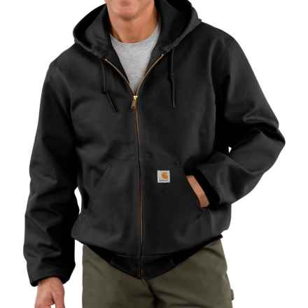 Carhartt Thermal-Lined Active Duck Jacket - Factory Seconds (For Big Men) in Black - 2nds