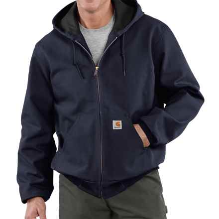 Carhartt Thermal-Lined Active Duck Jacket - Factory Seconds (For Tall Men) in Dark Navy - 2nds