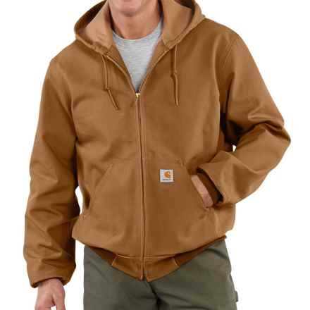 Carhartt Thermal-Lined Active Duck Jacket - Ring-Spun Cotton (For Tall Men) in Carhartt Brown - 2nds