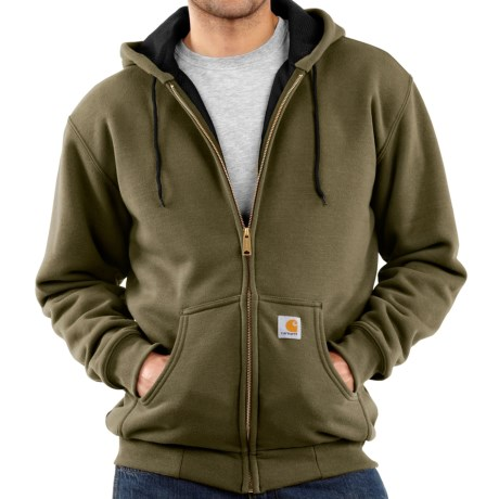 Carhartt Thermal-Lined Hooded Jacket (For Men) in Army Green