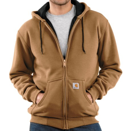 Carhartt Thermal-Lined Hooded Sweatshirt (For Men) in Carhartt Brown