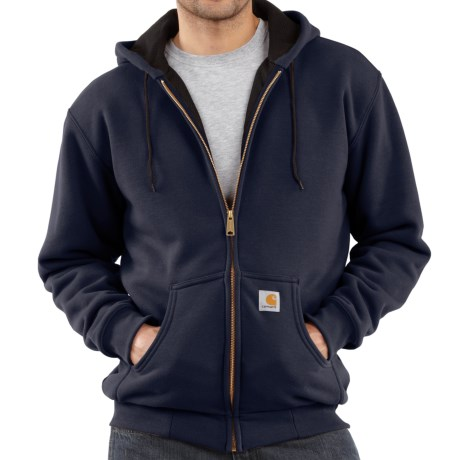 Carhartt Thermal-Lined Hooded Sweatshirt (For Tall Men) in New Navy