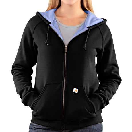 Carhartt Thermal Lined Sweatshirt - Full Zip (For Women) in Black