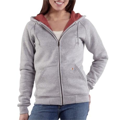Carhartt Thermal Lined Sweatshirt - Full Zip (For Women) in Heather Grey