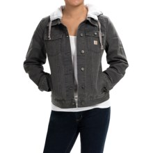 Carhartt Tomboy Canvas Jacket (For Women) in Coal - 2nds