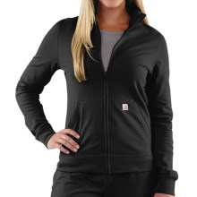 Carhartt Track Jacket - Full Zip (For Women) in Black - 2nds