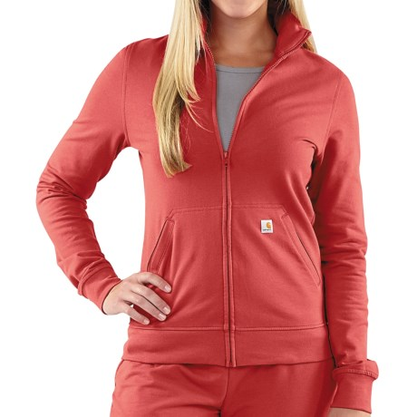 Carhartt Track Jacket - Full Zip (For Women) in Bright Rose
