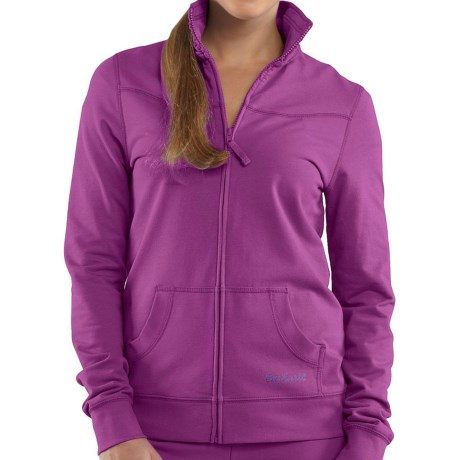 Carhartt Track Jacket - Zip Front, Stretch Cotton (For Women) in Bright Blueberry