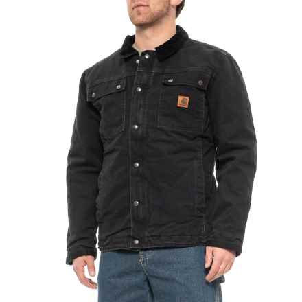 e6787358 Carhartt Tractor Jacket - Factory Seconds (For Men) in Black - 2nds