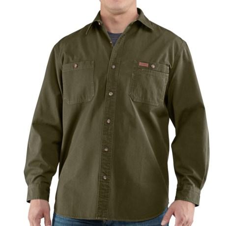 Carhartt Trade Shirt - Long Sleeve (For Men) in Army Green