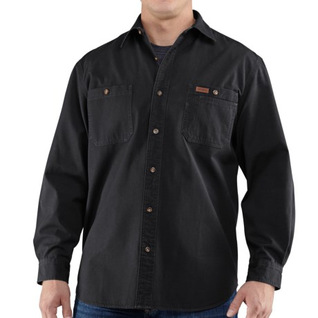 Carhartt Trade Shirt - Long Sleeve (For Men) in Black