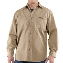 Carhartt Trade Shirt - Long Sleeve (For Men) in Field Khaki - 2nds