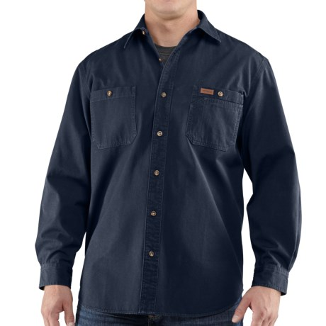Carhartt Trade Shirt - Long Sleeve (For Men) in Field Khaki