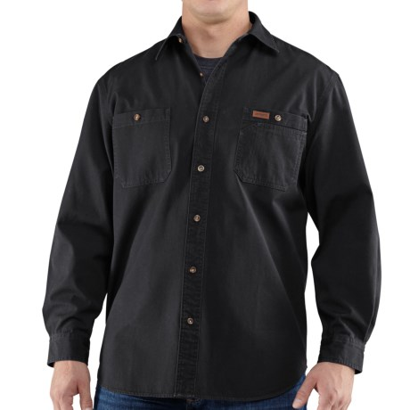 Carhartt Trade Shirt - Long Sleeve (For Tall Men) in Black