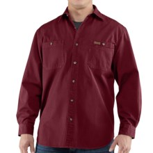 Carhartt Trade Shirt - Long Sleeve (For Tall Men) in Dark Red - 2nds