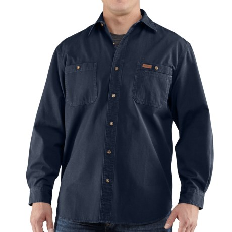 Carhartt Trade Shirt - Long Sleeve (For Tall Men) in Navy