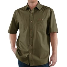 Carhartt Trade Shirt - Short Sleeve (For Men) in Army Green - 2nds