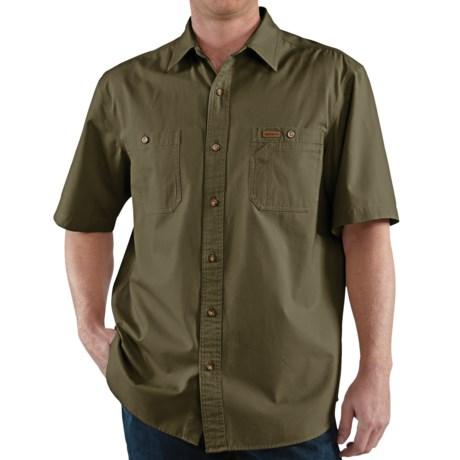 Carhartt Trade Shirt - Short Sleeve (For Men) in Army Green