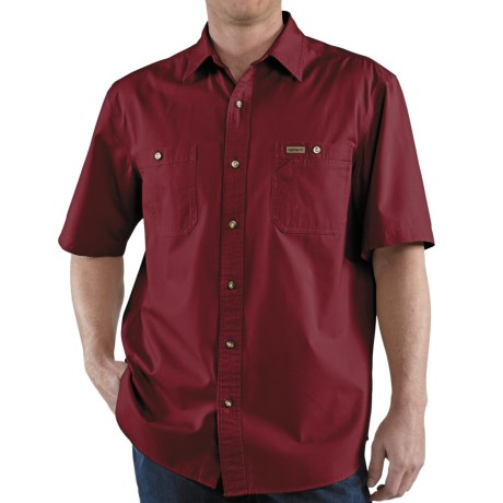 Carhartt Trade Shirt - Short Sleeve (For Men) in Dark Red