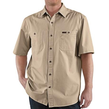 Carhartt Trade Shirt - Short Sleeve (For Men) in Field Khaki