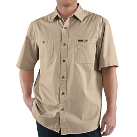 Carhartt Trade Shirt - Short Sleeve (For Tall Men) in Field Khaki