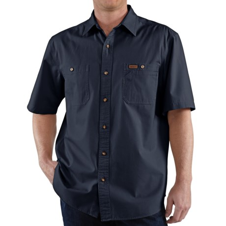 Carhartt Trade Shirt - Short Sleeve (For Tall Men) in Navy