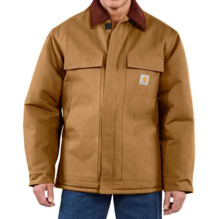 Carhartt Traditional Arctic Quilt Duck Work Coat - Insulated, Factory Seconds (For Big Men) in Carhartt Brown - 2nds